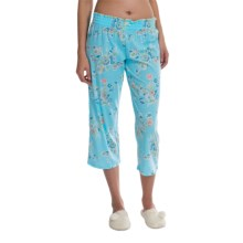 Jockey Lounge Capris (For Women) in Enchanted Fields Spring Blue - Closeouts