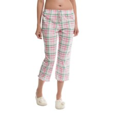 Jockey Lounge Capris (For Women) in Nantucket Summer Watermelon Plaid - Closeouts