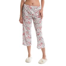 Jockey Lounge Capris (For Women) in Shangri-La Pink Wild Flowers - Closeouts