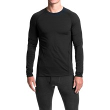 Jockey Microfiber Base Layer Top - Crew Neck, Long Sleeve (For Men) in Black - Closeouts