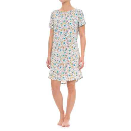 Jockey Pocket Nightshirt - Short Sleeve (For Women) in Wildflower - Closeouts