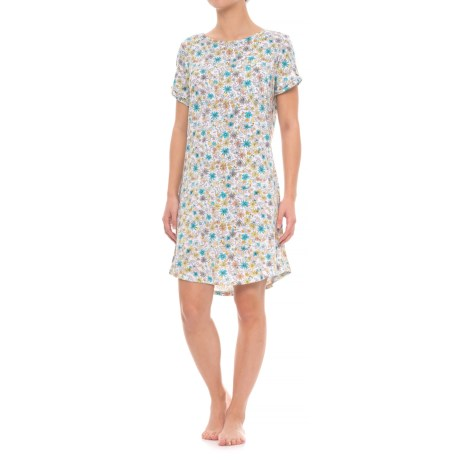 Jockey Pocket Nightshirt - Short Sleeve (For Women) in Wildflower
