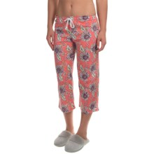 Jockey Print Pacific Isles Cropped Pajama Pants (For Women) in Coral Floral - Overstock