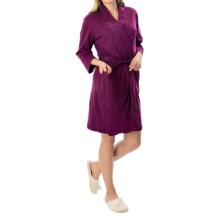 Jockey Replenishment Wrap Robe - 3/4 Sleeve (For Women) in Wine - Closeouts