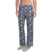 Jockey Ruffle Trim Lounge Pants (For Women) in Navy Floral - Overstock
