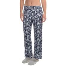 Jockey Ruffle-Trimmed Waist Lounge Pants (For Women) in Navy Floral - Overstock