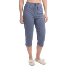 Jockey Solid Drawstring Lounge Capris (For Women) in Chambray - Closeouts