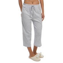 Jockey Solid Drawstring Lounge Capris (For Women) in Heather Grey - Closeouts