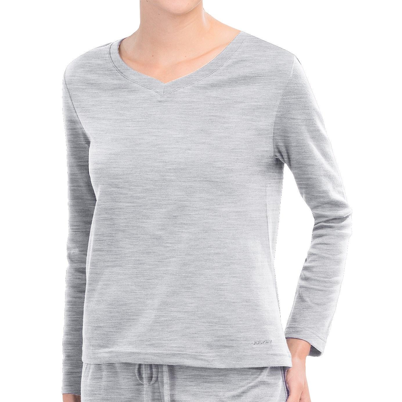 Jockey v neck lounge shirt for women save 85 for Jockey v neck shirt