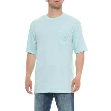 Joe Marlin Half Moon Bay T-Shirt - Short Sleeve (For Men) in Aqua Reef - Overstock