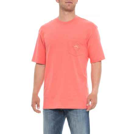Joe Marlin Half Moon Bay T-Shirt - Short Sleeve (For Men) in Pink Paradise - Overstock