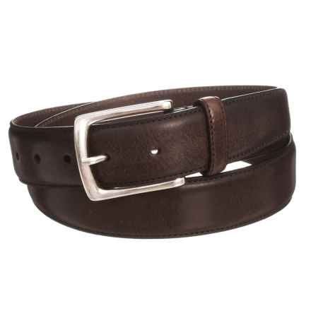 Joe's Jeans Burnished Leather Belt (For Men) in Brown - Closeouts