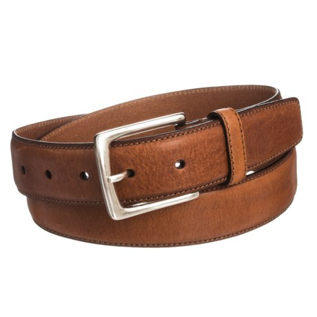 Joe's Jeans Burnished Leather Belt (For Men) in Tan