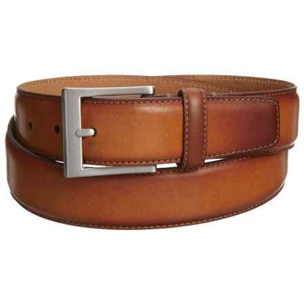 Burnished Leather Belt (For Men) in Tan - Closeouts