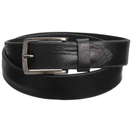 Joe's Jeans Distressed Leather Belt (For Men) in Black - Closeouts