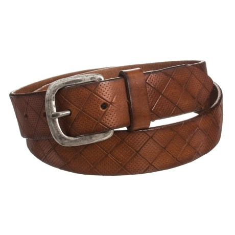 Joe's Jeans Embossed Leather Belt (For Men) in Brown