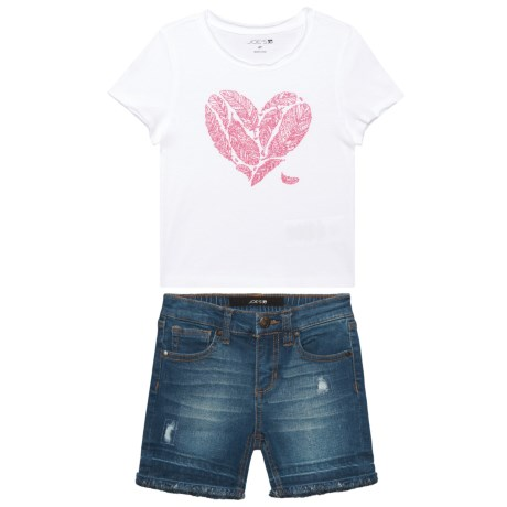 Joe's Jeans Graphic Shirt and Shorts Set - Short Sleeve (For Kids) in Off White