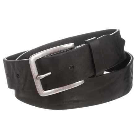 Joe's Jeans Burnished Distressed Leather Belt (For Men) in Black - Closeouts