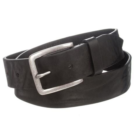 Joe's Jeans Joe's Jeans Burnished Distressed Leather Belt (For Men) in Black