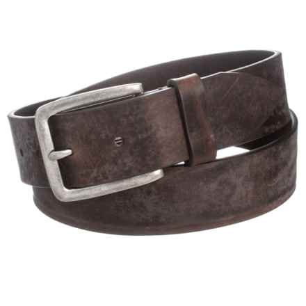 Joe's Jeans Joe's Jeans Burnished Distressed Leather Belt (For Men) in Brown - Closeouts