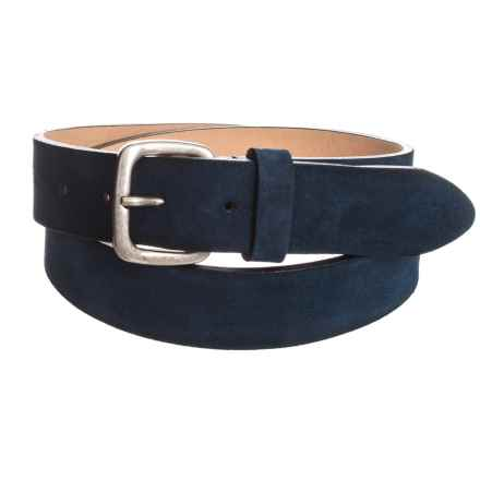Suede Belt (For Men) in Blue - Closeouts