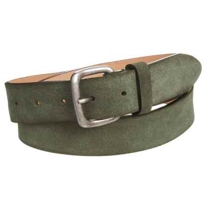 Suede Belt (For Men) in Olive - Closeouts