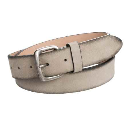 Suede Belt (For Men) in Tan - Closeouts
