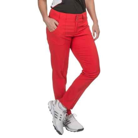 Jofit Belted Cropped Pants (For Women) in Lipstick - Closeouts