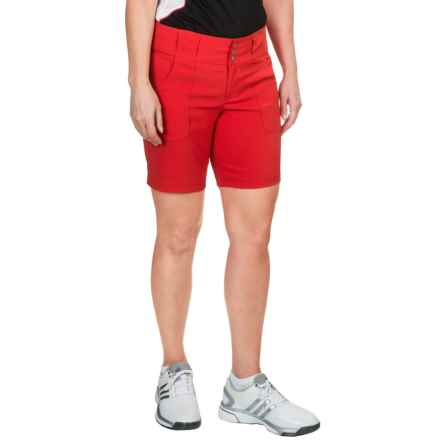 Jofit Belted Shorts (For Women) in Lipstick - Closeouts