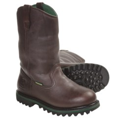 "John Deere 12"" Wellington Work Boots - Waterproof, Insulated, Leather (For Men) in Black Raspberry"