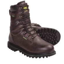 "John Deere 9"" Lace-Up Work Boots - Waterproof, Insulated (For Men) in Black Raspberry - Closeouts"