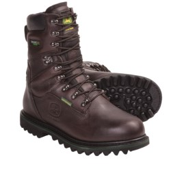 "John Deere 9"" Lace-Up Work Boots - Waterproof, Insulated (For Men) in Black Raspberry"