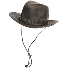 John Deere Aussie Hat - UPF 50+, Weathered Cotton (For Men) in Brown - Closeouts
