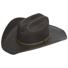John Deere Cattleman Western Hat - Bangora Straw, Vented Crown (For Men) in Black - Closeouts