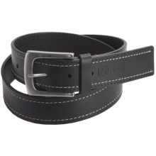 John Deere Contrast Stitch Belt - Leather (For Men) in Black - Closeouts