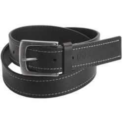 John Deere Contrast Stitch Belt - Leather (For Men) in Black