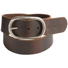 John Deere Distressed Leather Belt (For Women) in Brown - Closeouts