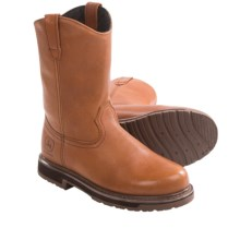 "John Deere Footwear 11"" AG Series Wellington Boots - Leather (For Men) in Tan - Closeouts"