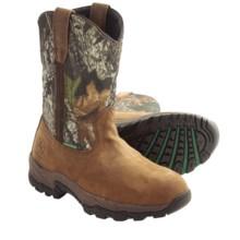 """John Deere Footwear 11"""" EH Work Boots - Waterproof, Leather-Nylon (For Men) in Gaucho/Mossy Oak - Closeouts"""