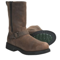 "John Deere Footwear 11"" Wellington Boots - Crazy Horse Leather, Steel Toe (For Men) in Brown Stone"