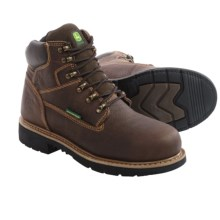 "John Deere Footwear 6"" EH Work Boots - Waterproof, Steel Toe (For Men) in Chocolate - Closeouts"