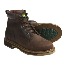 "John Deere Footwear 6"" Work Boots - Oiled Leather, Lace-Ups (For Men) in Gaucho - Closeouts"