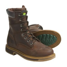 "John Deere Footwear 8"" Nutty Mule Work Boots - Oiled Leather, Lace-Ups (For Men) in Dark Brown - Closeouts"