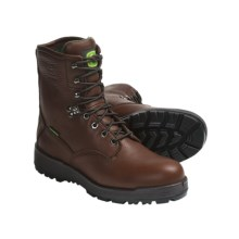 "John Deere Footwear 8"" Work Boots - Oiled Leather, Wedge Sole (For Men) in Dark Brown - Closeouts"