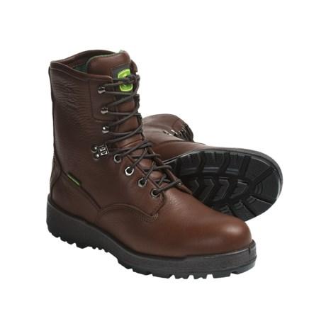 """John Deere Footwear 8"""" Work Boots - Oiled Leather, Wedge Sole (For Men) in Dark Brown"""