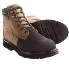 John Deere Footwear EH Work Boots - Safety Toe (For Men) in Brownstone Crazy Horse - Closeouts