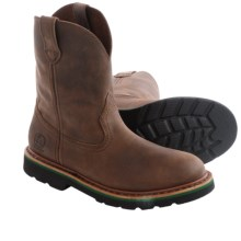 John Deere Footwear Gaucho Nutty Mule Cowboy Boots - Leather, Round Toe (For Big Kids) in Brown - Closeouts