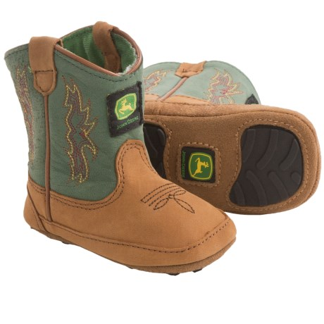 John Deere Footwear Johnny Poppers Cowboy Boots (For Infants) in Tan