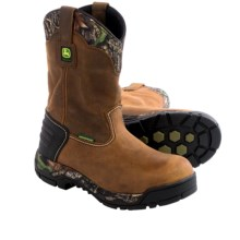 John Deere Footwear WCT II Work Boots - Waterproof, Leather (For Men) in Tan/Camo - Closeouts