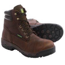 John Deere Footwear WCT Work Boots - Waterproof, Leather, Alloy Toe (For Men) in Brown - Closeouts